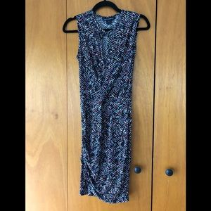 French Connection multi colored keyhole dress